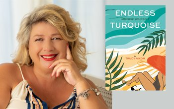 Trudy Nixon and her book Cover Endless Turquoise