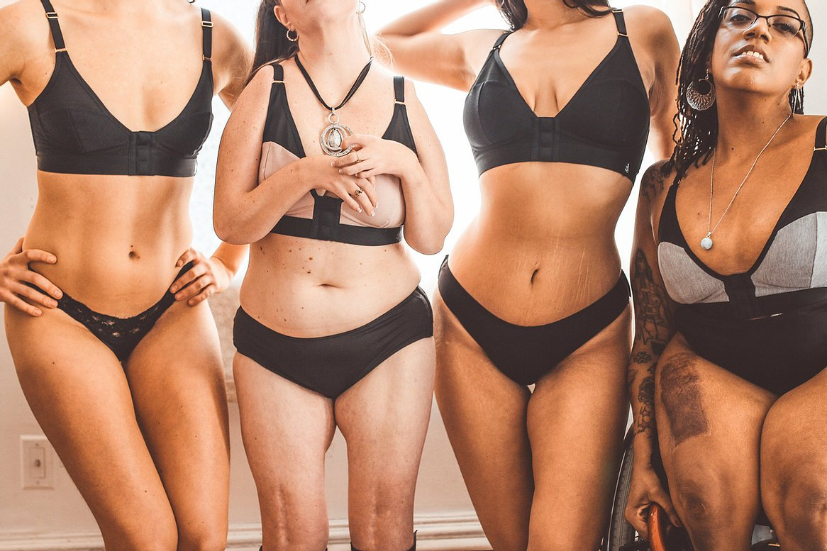 Women wearing Intimately's underwear
