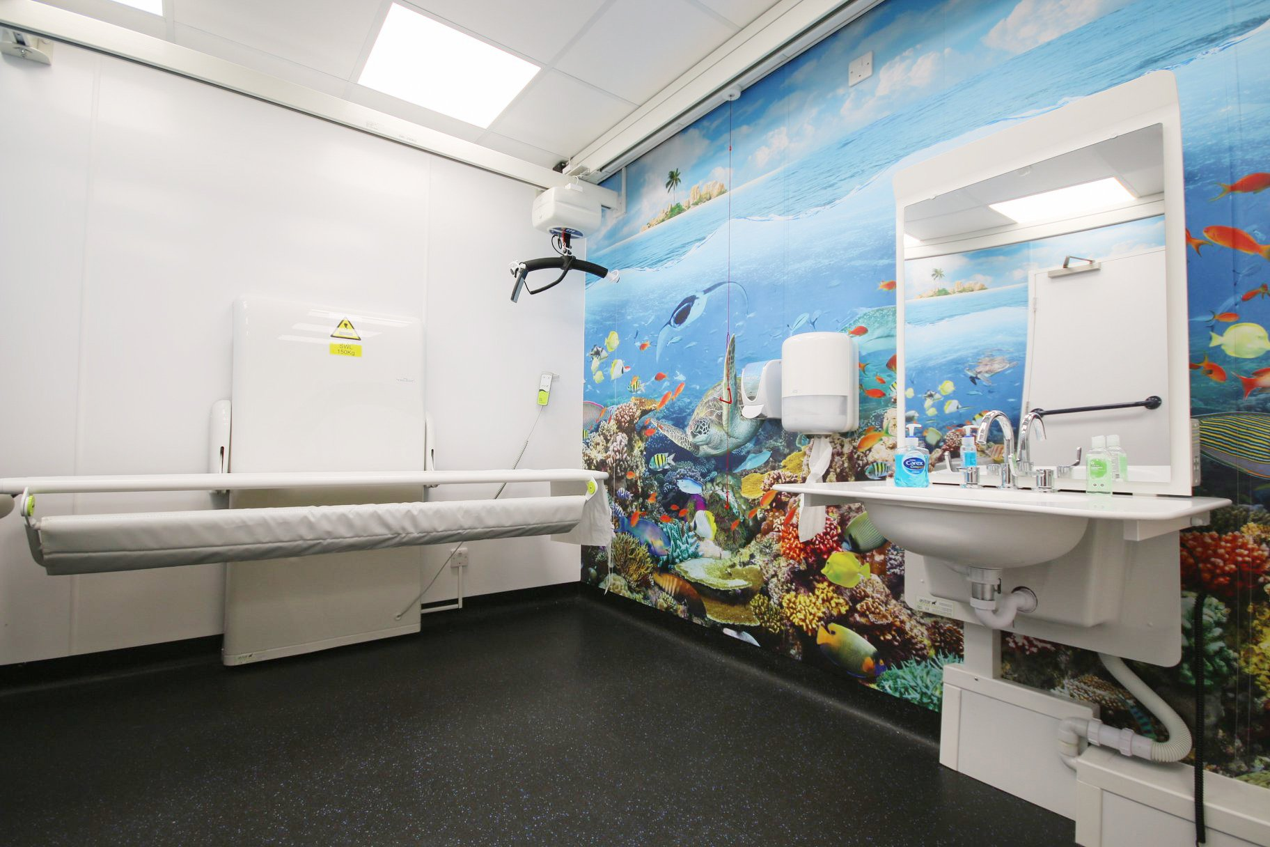 A Changing Places toilet at The Deep Aquarium, Hull